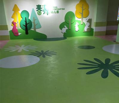 宝安幼儿园塑胶地板001