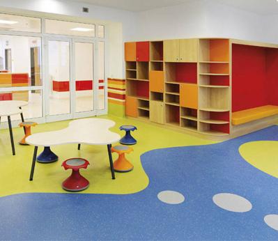 宝安幼儿园塑胶地板002