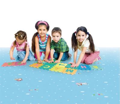 广州幼儿园塑胶地板001