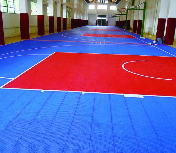 悬浮式运动地板-室内篮球场地