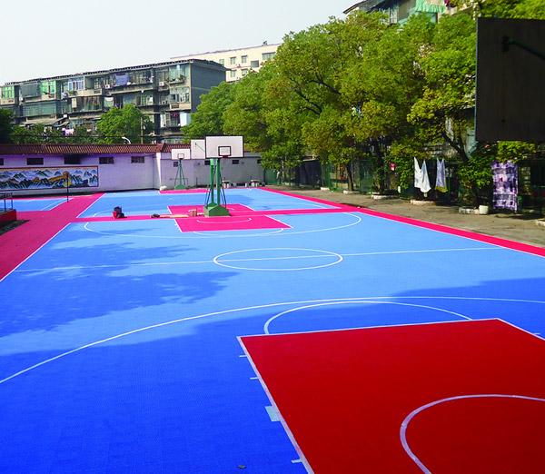 悬浮式运动地板-篮球场地2