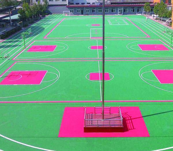 悬浮式运动地板-篮球场地