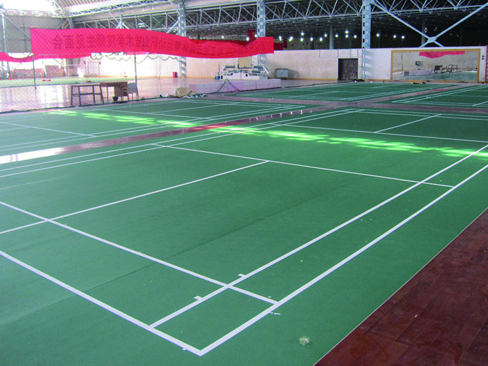 云南体育局羽毛球馆地板