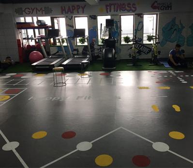 威孚健身房地板001